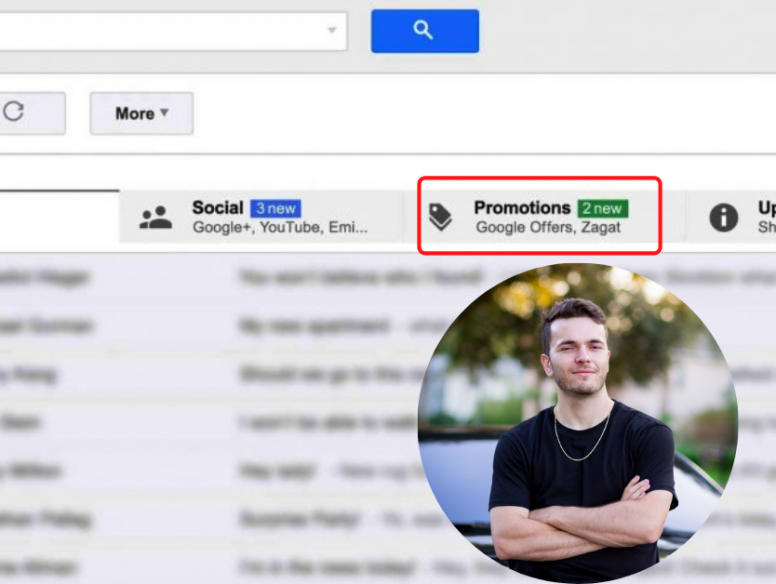 Google promotions tab and Troy Ericson